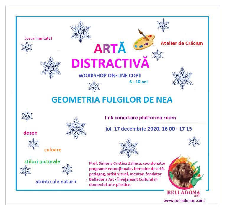 workshop Craciun ARTA DISTRACTIVA online 2020